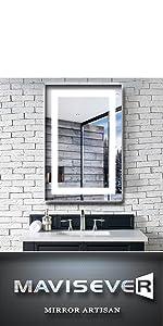 mavisever 24 x 36 inch led bathroom mirror wall mounted led lights backlit vanity mordern wall