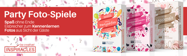 Witzige JGA Spiele Inspiracles 52 kreative Fotoaufgaben Junggesellinnenabschied Braut Challenge Ideen f/ür Frauen Spielkarten