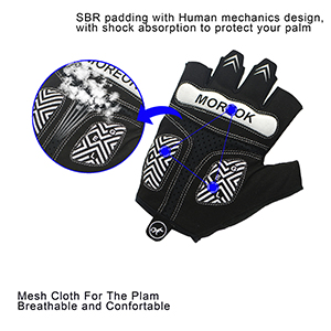 breathable mesh on palm