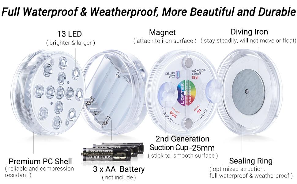 magnetic pool light waterproof