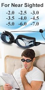 WAHAH Nearsighted Anti-Fog Dr Eye Relief Mask, Shortsighted Eye Mask