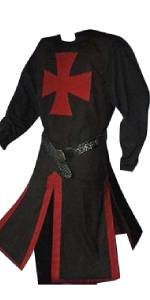 Pretifeel Mens Medieval Costume Knight Renaissance Pirate Viking Tunic Warrior Shirt Cosplay Tops