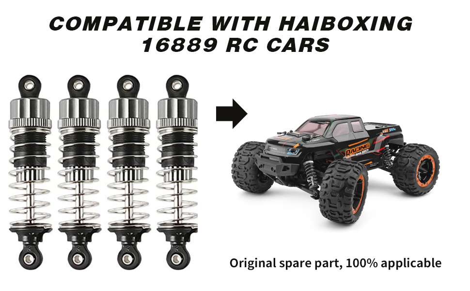 HAIBOXING RC Cars Upgrade Parts Front /& Rear Metal Oil Damper Shocks Apply to HBX 16889