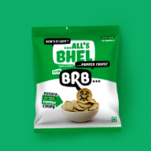Bhel Potato Popped Chips BRB Not Baked Not Fried
