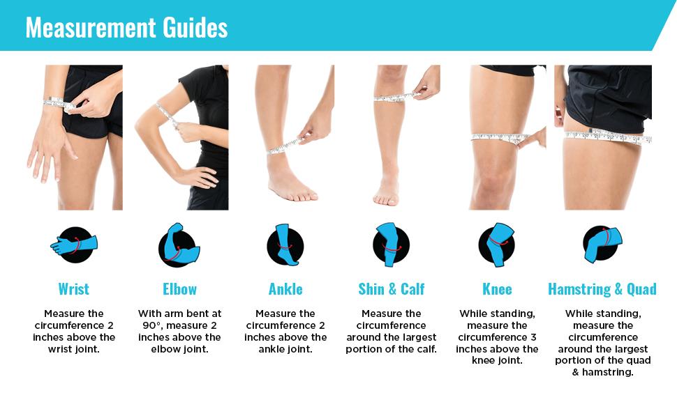 Freeze, Sleeve, Freeze Sleeve, Measure, Measurement, Guides, Guide, Arm, Leg, Foot, Elbow, Wrist