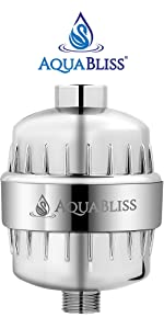 aquabliss sf100 shower water filter reduces chlorine and other chemicals from your shower water