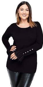 Lace Cuff Sweater