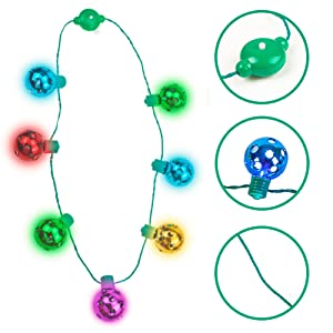christmas ball necklace