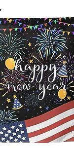 American Flag Happy New Year