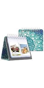 Fintie Kalender fotoalbum voor 3 inch film, 64 foto's fotoalbum voor Fujifilm Instax Mini 11/Mini 9