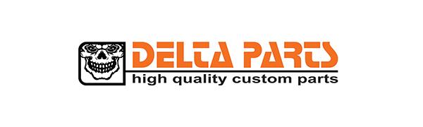 delta parts, motorrad, harley-davidson, logo