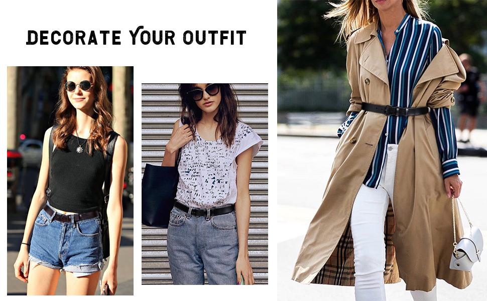 women casual leather belt