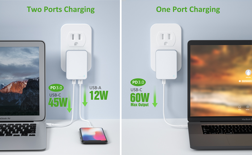 60W travel charger