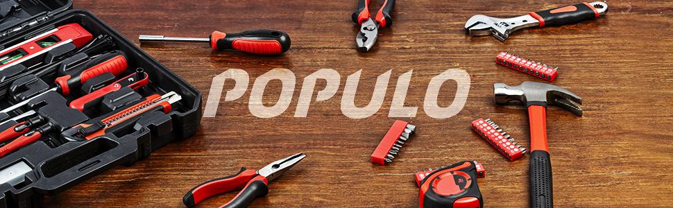 POPULO Hand Tool Set kits home improvement craftsman