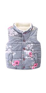 girls winter warm vest