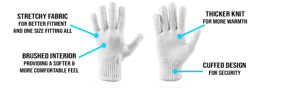 Meigu Soft Knit Unisex Fashion Gloves One Size Navy Blue 104G