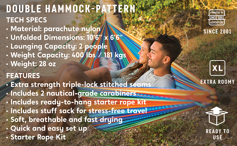 and Festivals Yamabushi Grand Trunk Double Parachute Printed Nylon Hammock: Portable with Carabiners and Hanging Kit Backpacking Perfect for Outdoor Adventures