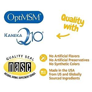OptiMSM Qmin+ NASC dog digestive enzymes dog pack salmon oil multivitamin for dogs shedding