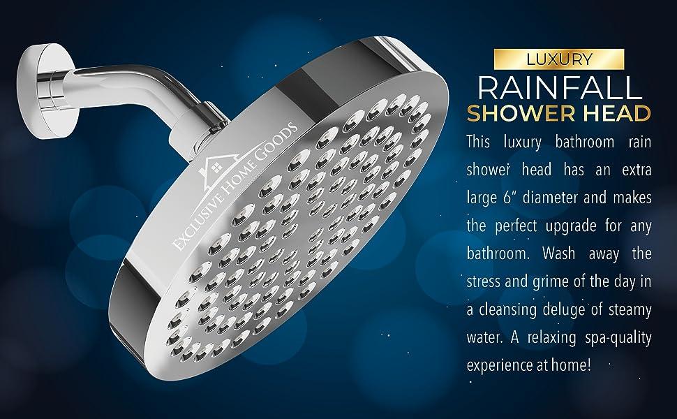 rain rainfall fall luxury shower head showerhead relax spa