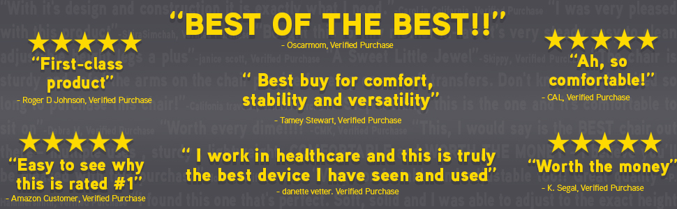 "real quoted reviews taken from verified purchases listed below. One states, ""Best of the best!!!"""