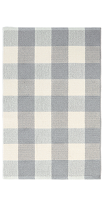 Gray/White Buffalo Plaid Rug