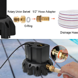swimming pool cover pump automatic remove water 1200 GPH