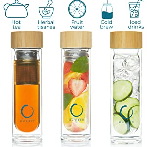 tea bottle for hot tea herbal tisanes fruit infuser water cold brew coffee cold brew tea iced tea
