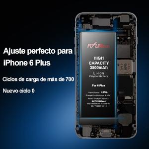 Batería para iPhone 6 Plus 3600mAH Reemplazo de Alta Capacidad, FLYLINKTECH Batería con 24% más de Capacidad Que la batería Original y con Kits de Herramientas de reparación, Cinta Adhesiva: Amazon.es: Electrónica