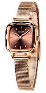 CIVO Women Watches Ladies Waterproof Stainless Steel Minimalist Analogue Rose Gold Wrist Watch