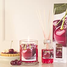 cherry pie. candle, reed diffuser