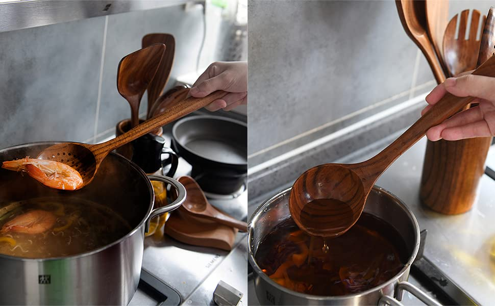serving utensils, cooking set, small spoon, juegos de cocina, wooden kitchen utensil set, spaghetti