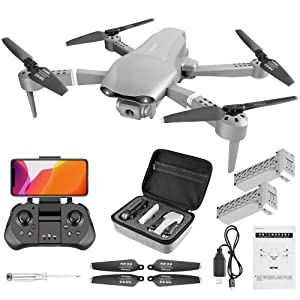 Drone  4DRC F3 GPS Drone 4K with FPV Camera Live Video,Foldable Drone for Adults,RC Quadcopter for Beginners,with Auto Return Home, Follow Me,Dual Cameras,Waypoints, Long Control Range,1 Extra Battery+Pack c5fd190d 2bb0 4808 b199 06673c6b6b19
