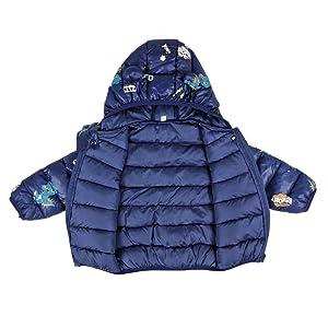 Bebé Invierno Chaqueta Niños Oreja Capucha Abrigo Acolchado CáLido Ligero Niñas Trajes