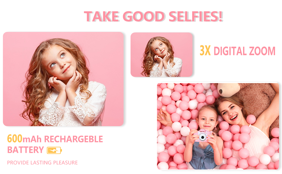 Digital Dual Camera 2.0Inches Screen 20.0MP Video Camcorder Anti-Drop Children Selfie Cartoon Camera