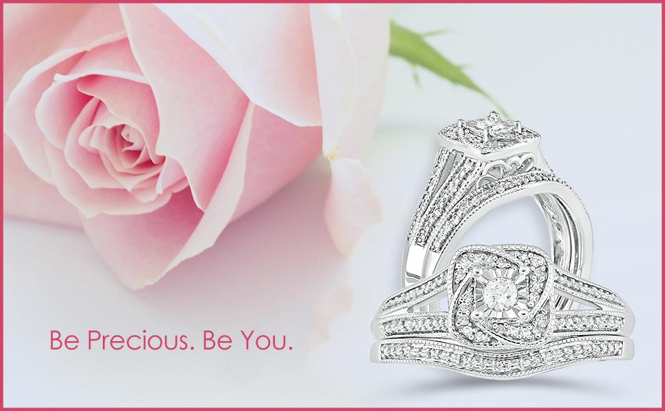 Bridal Engagement Ring Set for Women