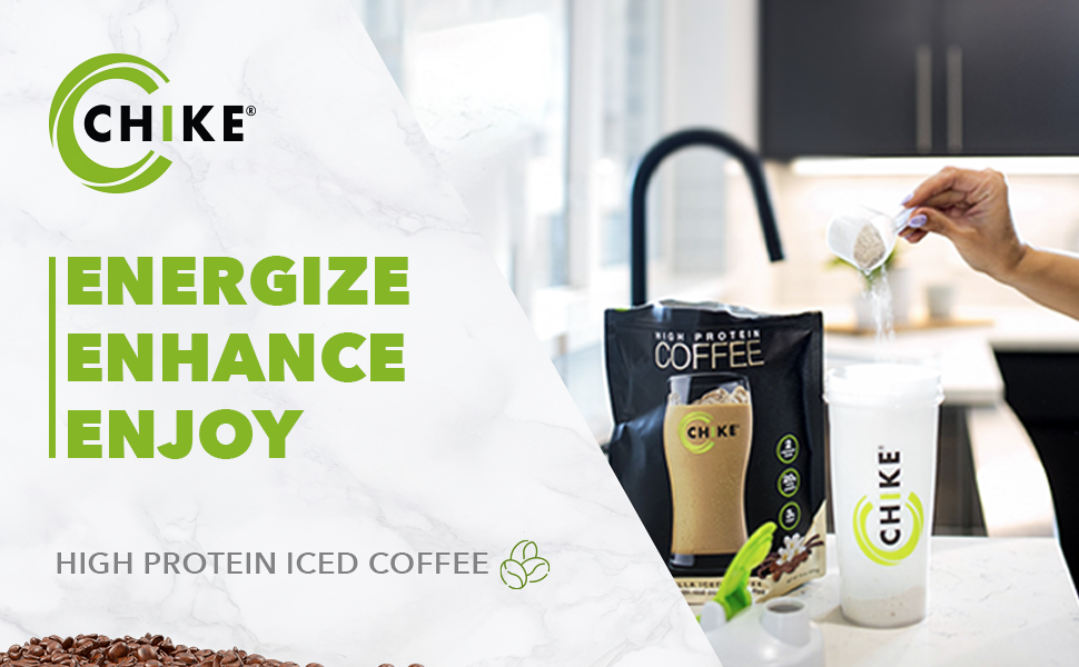 Chike Vanilla High Protein Iced Coffee Energize Enhance Enjoy