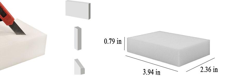 Extra Large Eraser Sponge - Extra Thick, Long Lasting, Premium Melamine Sponges Scrubber Foam