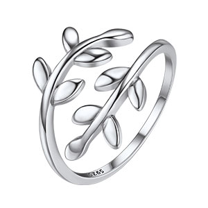 S990 Sterling Silver Rings For Men Women Unique Cloud Lucky Open Ring US 6-10