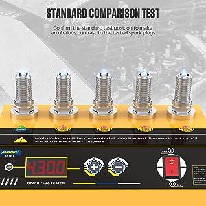 SPT360 220V Car Spark Plug Tester Ignition Testers Five Hole Spark Plug Flashover Analyzer Tool