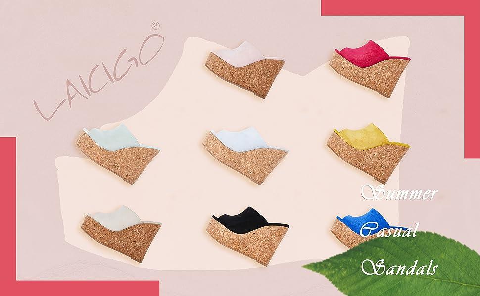 Brand name LAICIGO logo summer casual sandals