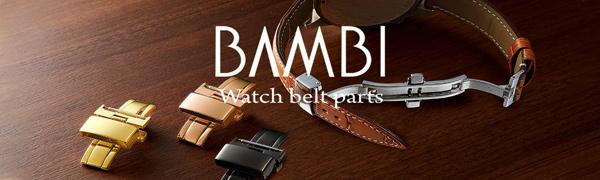 時計バンド 時計アクセサリー BAMBI バンビ