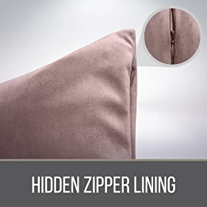 hidden zipper