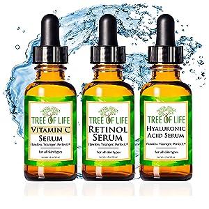 vitamin c serum retinol cream hyaluronic acid moisturizer anti aging wrinkle cream face serum eye