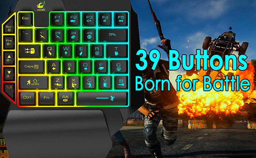 39 buttons Born for Battle