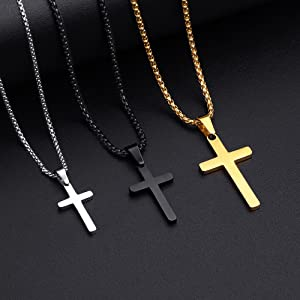 Cross necklace SIZE and LENGTH