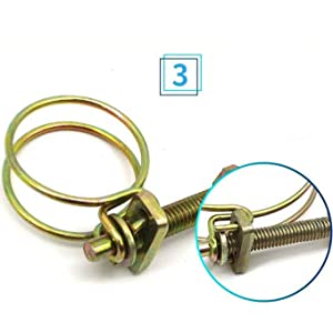 Hose Clamps Assortment Kit for Water Pipe