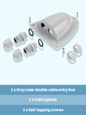 solar cable entry gland box