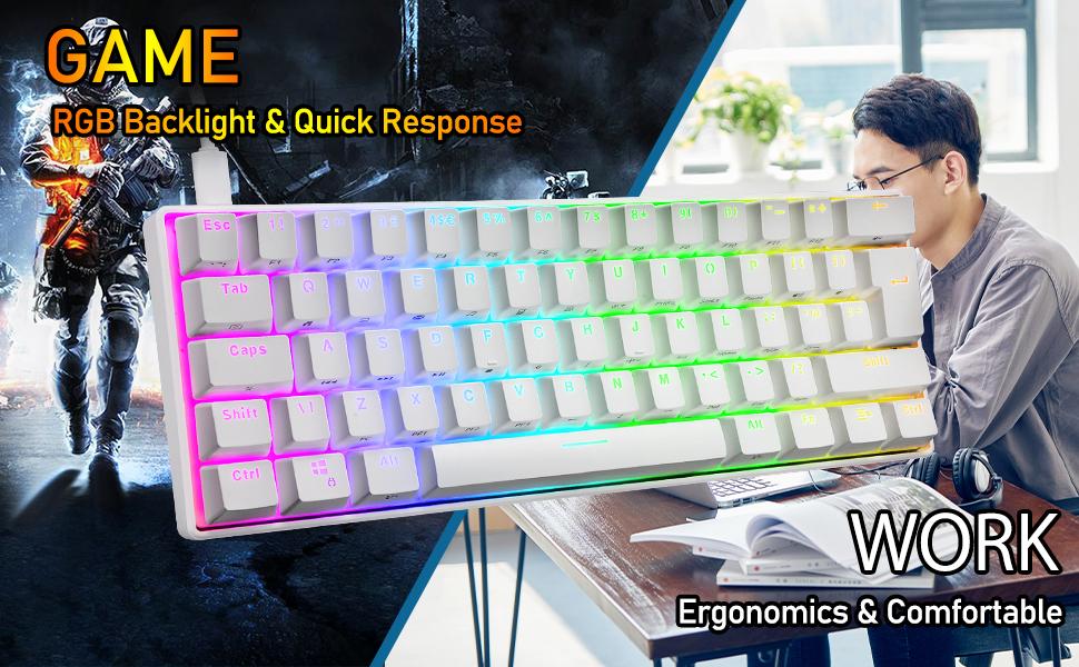 mechanical gaming keyboard for pc mac gamers