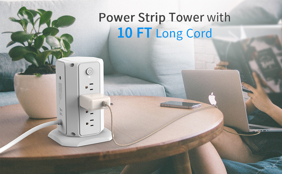 8 outlet power strip surge protector
