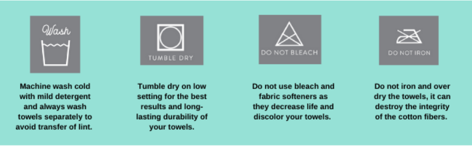 Dan River Towel Care instructions